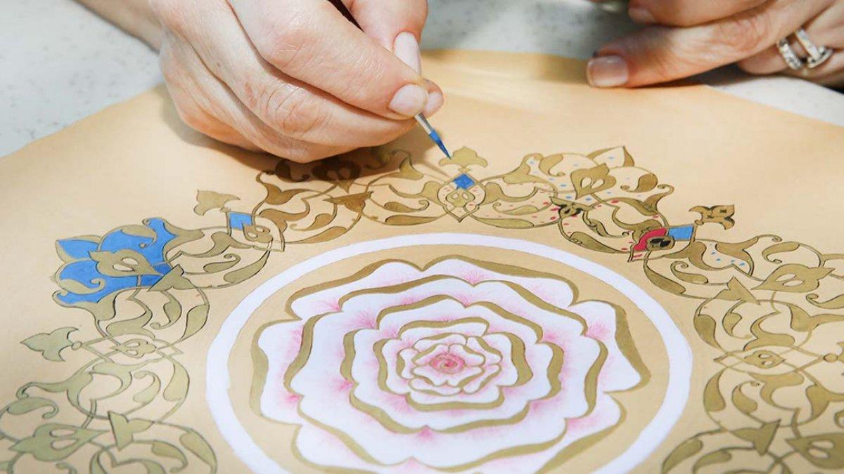 Altınla nakış nakış işlenen sanat:Tezhip