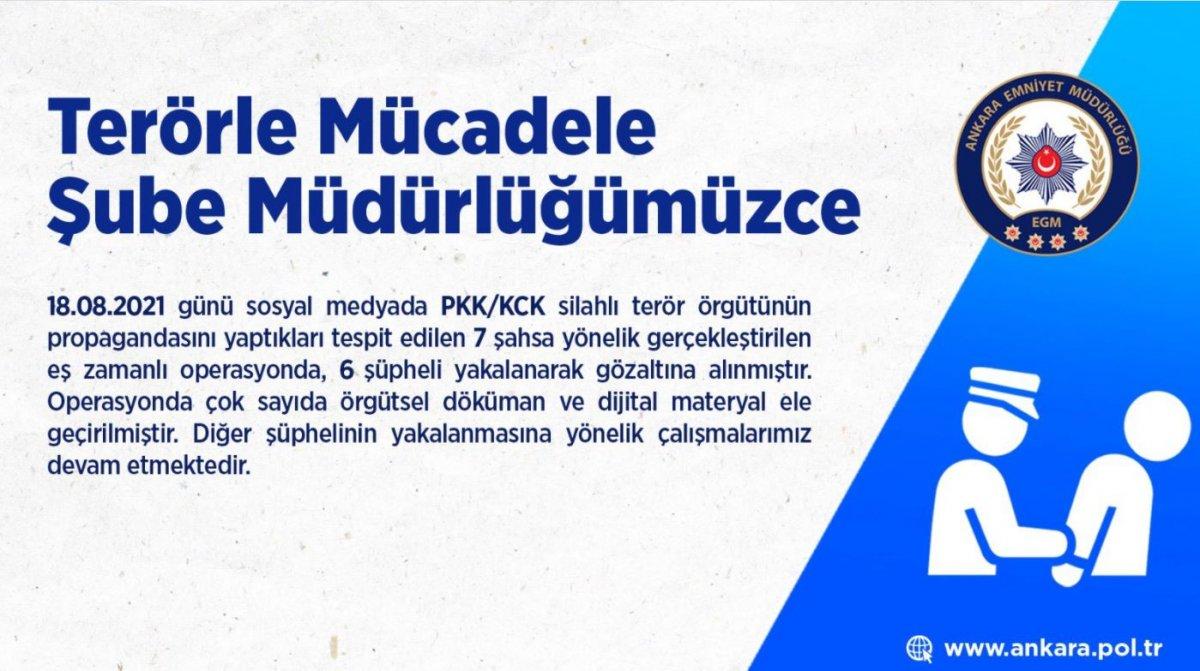 Ankara'da PKK/KCK propagandası yapan 6 kişi gözaltında #5
