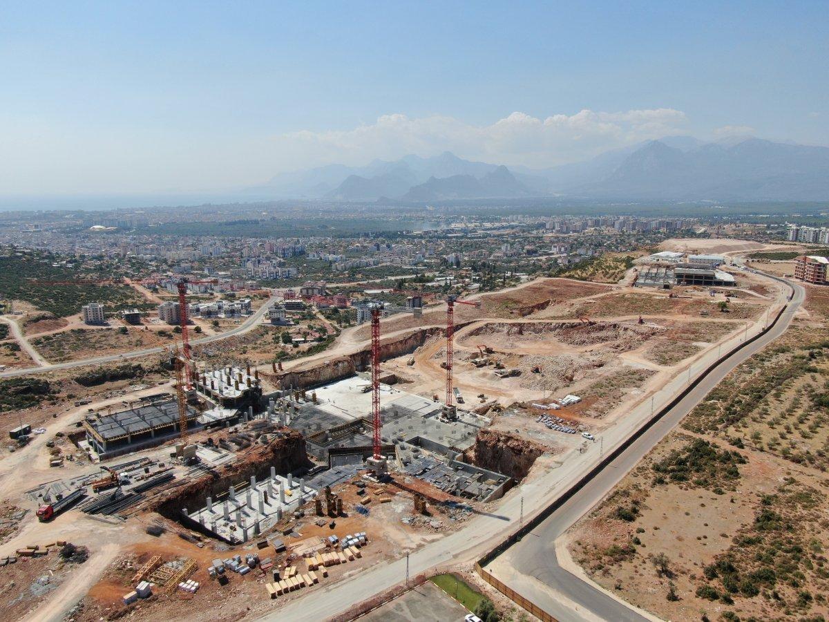 Antalya Şehir Hastanesi inşaatının yüzde 7'lik bölümü tamamlandı #1