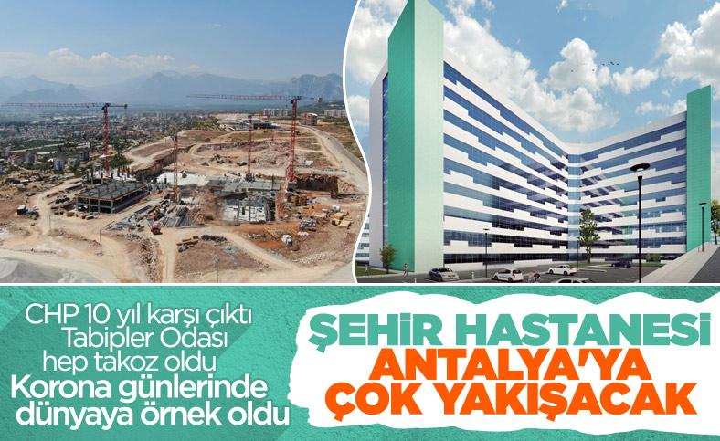 Antalya Şehir Hastanesi inşaatının yüzde 7'lik bölümü tamamlandı