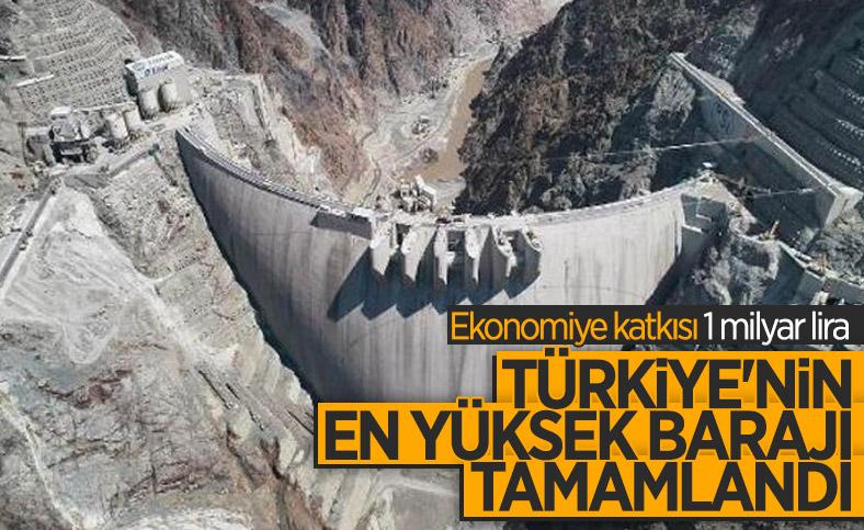 Artvin'de yapılan Türkiye'nin en yüksek barajı tamamlandı