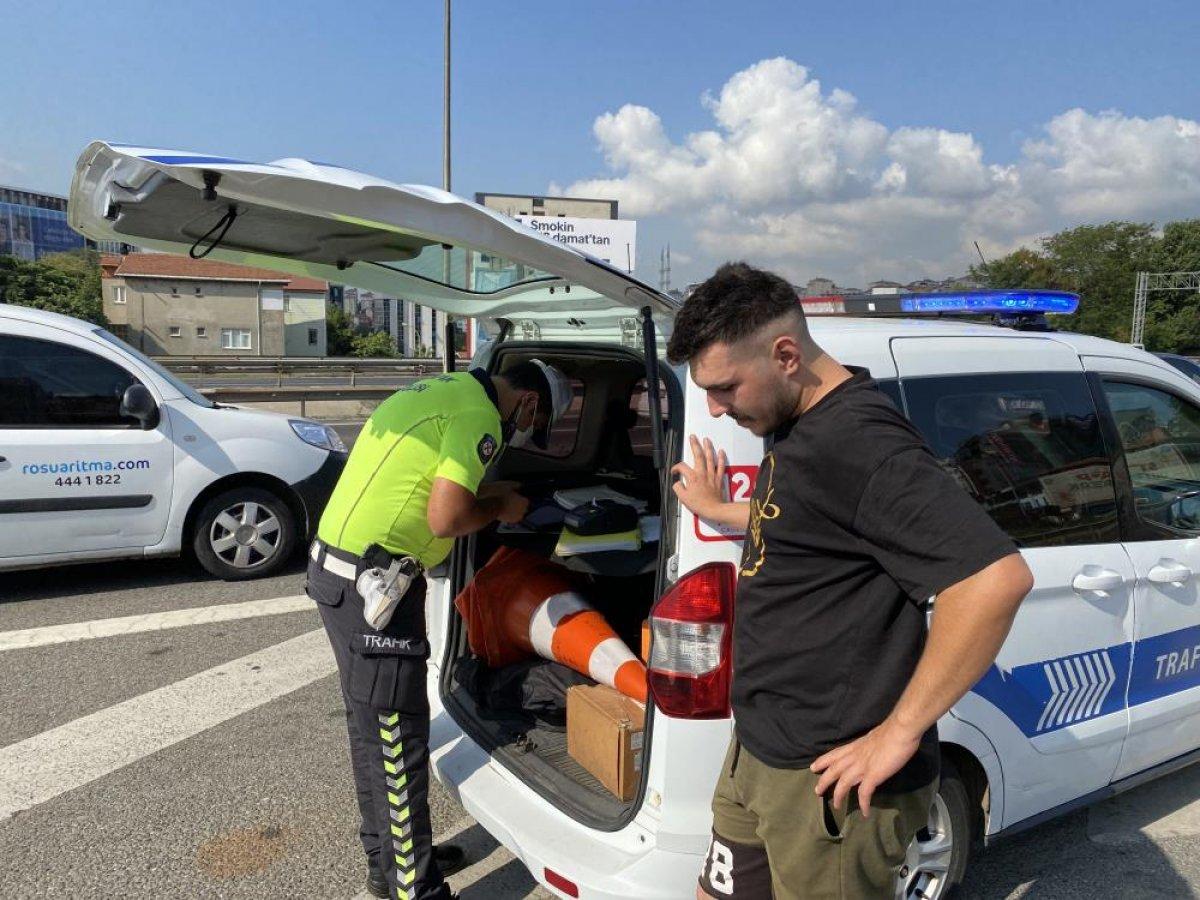 Beykoz da sürücülere usulsüz çakar denetimi yapıldı #1