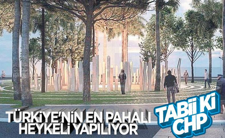 CHP'li İzmir Büyükşehir Belediyesi'nden 1 milyon 915 bin liralık heykel ihalesi