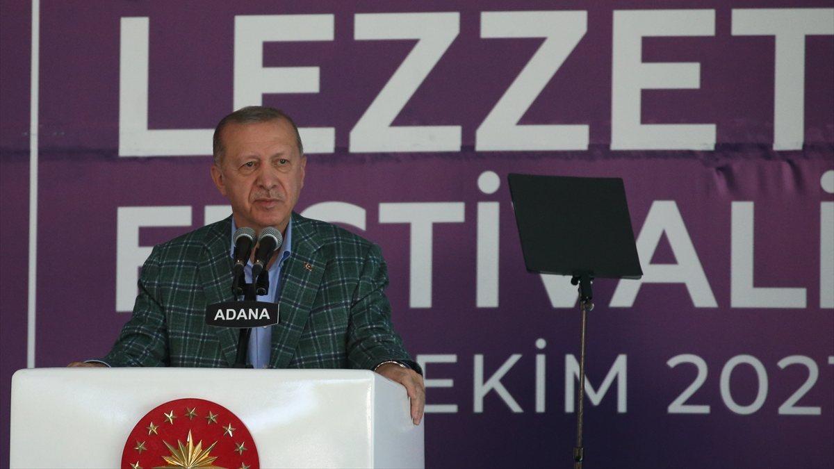 Cumhurbaşkanı Erdoğan, 5. Uluslararası Adana Lezzet Festivali'nde