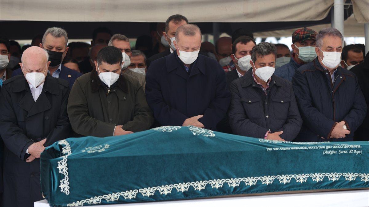 Cumhurbaşkanı Erdoğan, Ahmet Gür'ün cenazesine katıldı