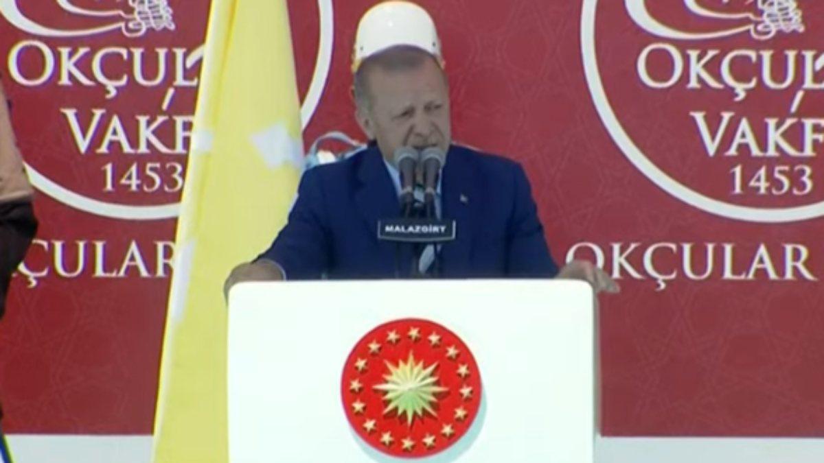 Cumhurbaşkanı Erdoğan'ın, Malazgirt Fetih Programı'ndaki konuşması