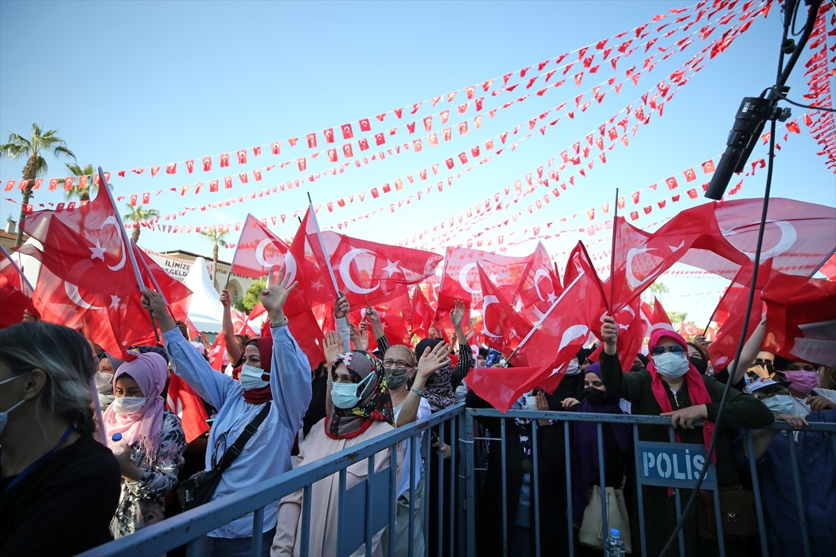 Cumhurbaşkanı Erdoğan, Mersin de toplu açılış törenine katıldı #1