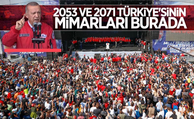 Cumhurbaşkanı Erdoğan: TEKNOFEST'in genç mucitleri Türkiye'nin mimarları olacak