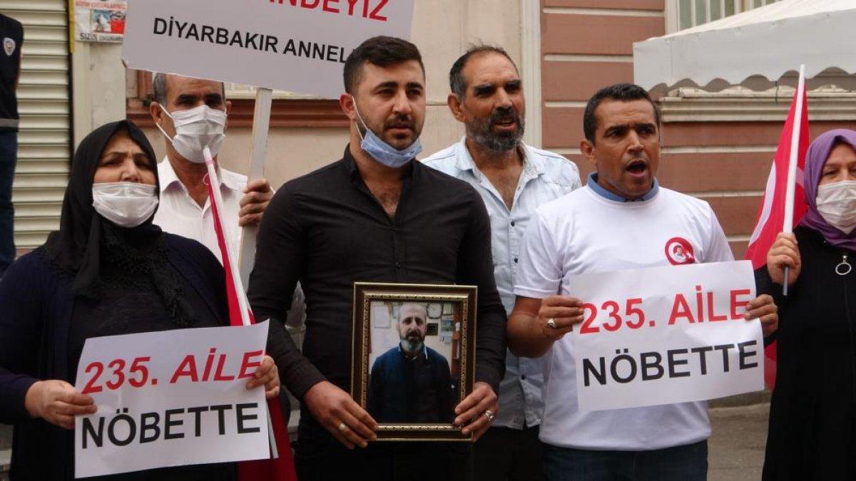 Diyarbakır'da evlat nöbetindeki aile sayısı 234 oldu