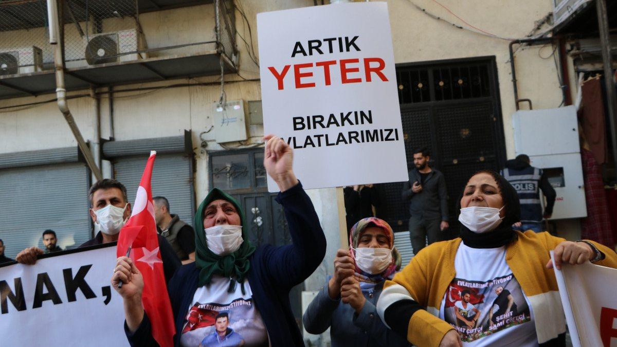 Diyarbakır'daki annelerden, Hakkari'deki evlat nöbeti eylemlerine destek