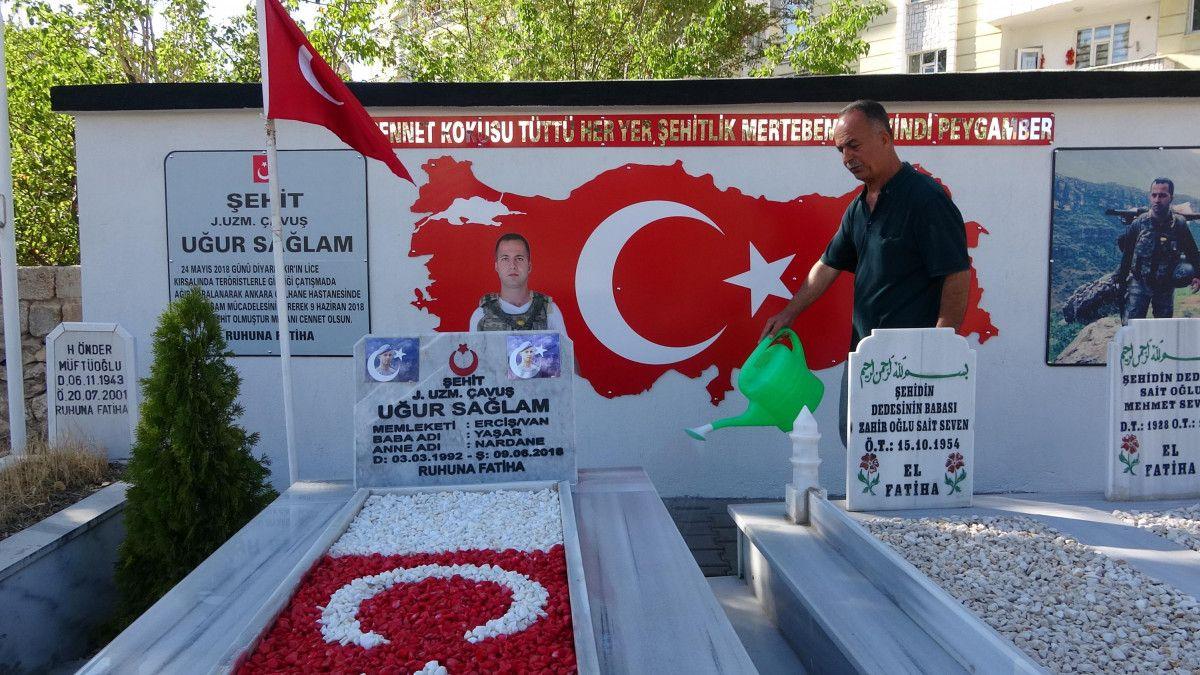 Diyarbakır şehidine ailesi anıt yaptırdı #4