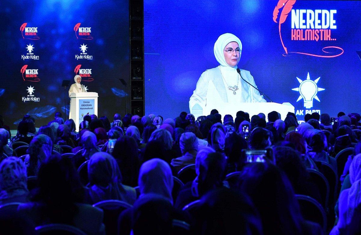 Emine Erdoğan: Eğitimleri yarıda kalan kadınlarımız okula devam edecek #5