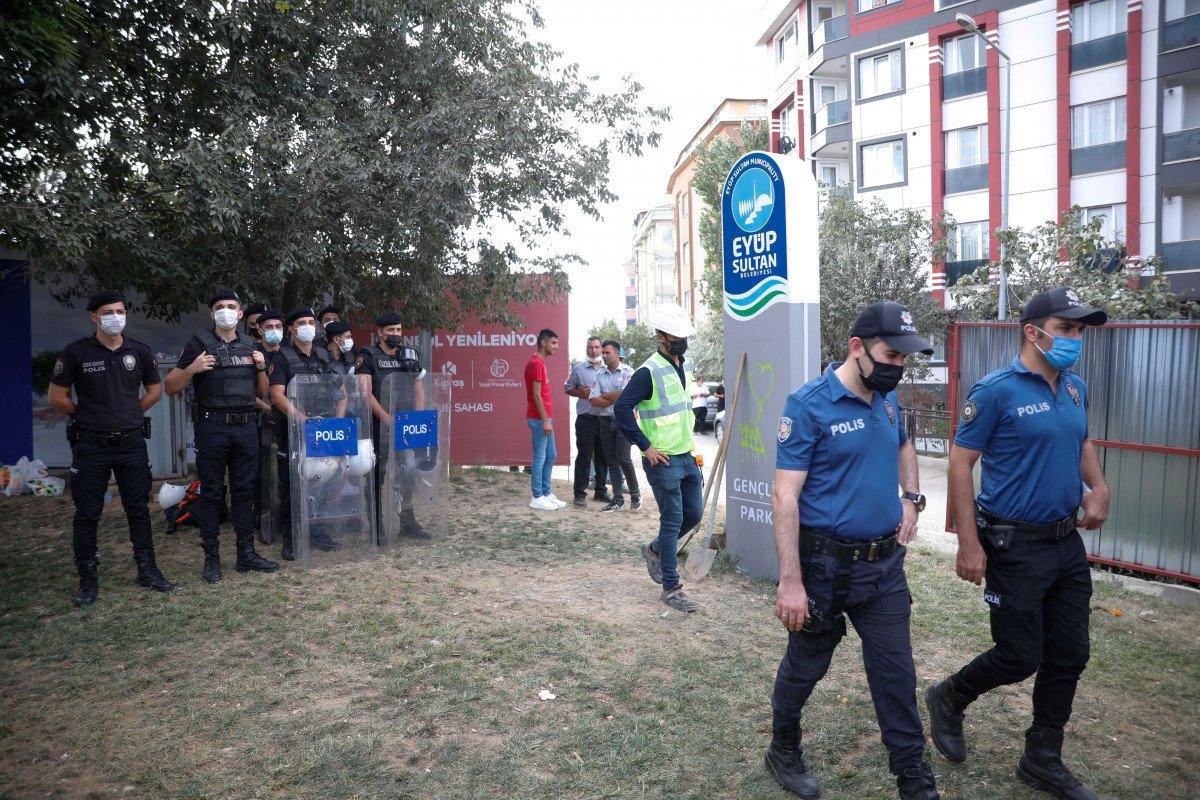 Eyüpsultan'da İBB'nin yıkacağı parkta eylem #4