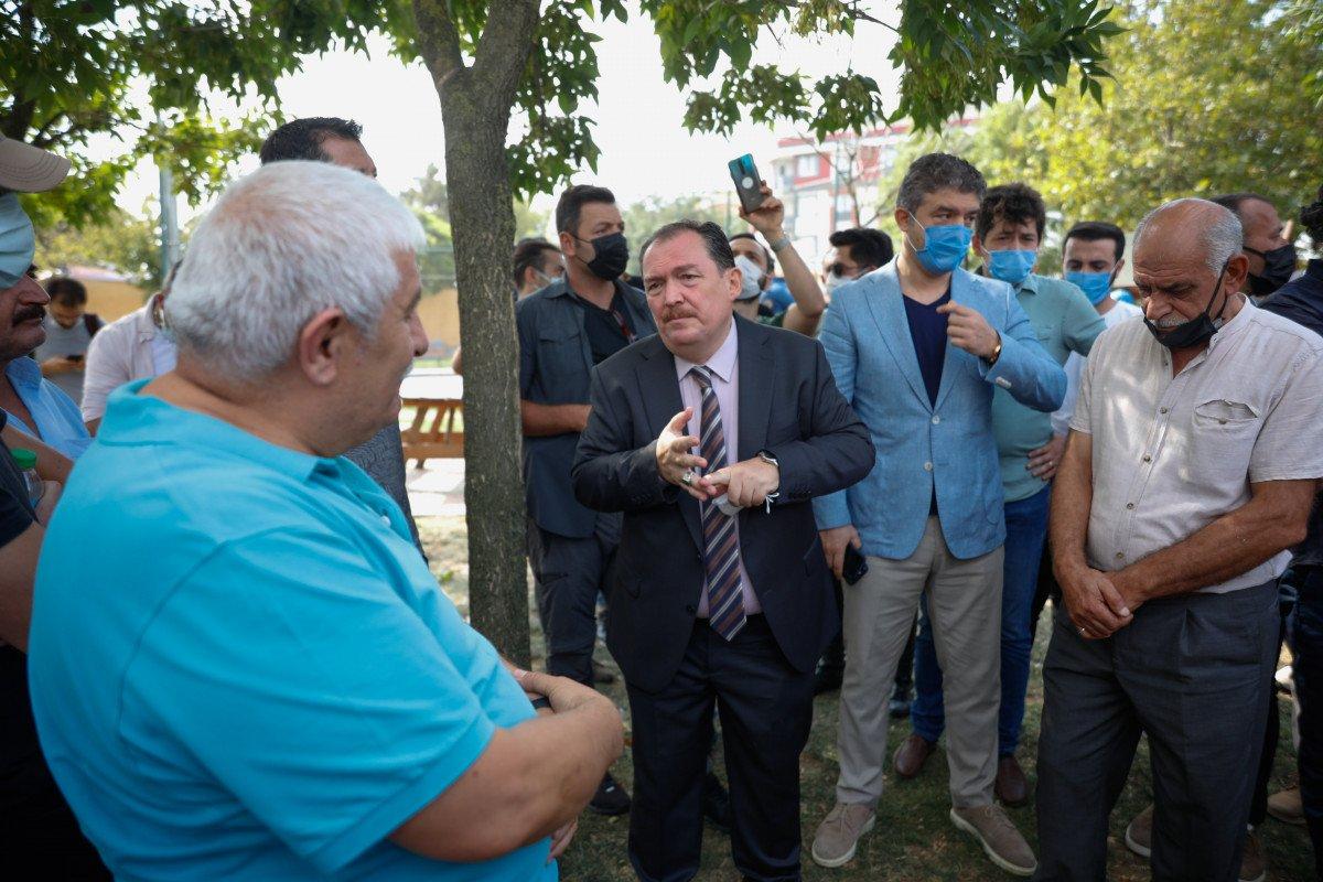 Eyüpsultan'da İBB'nin yıkacağı parkta eylem #6
