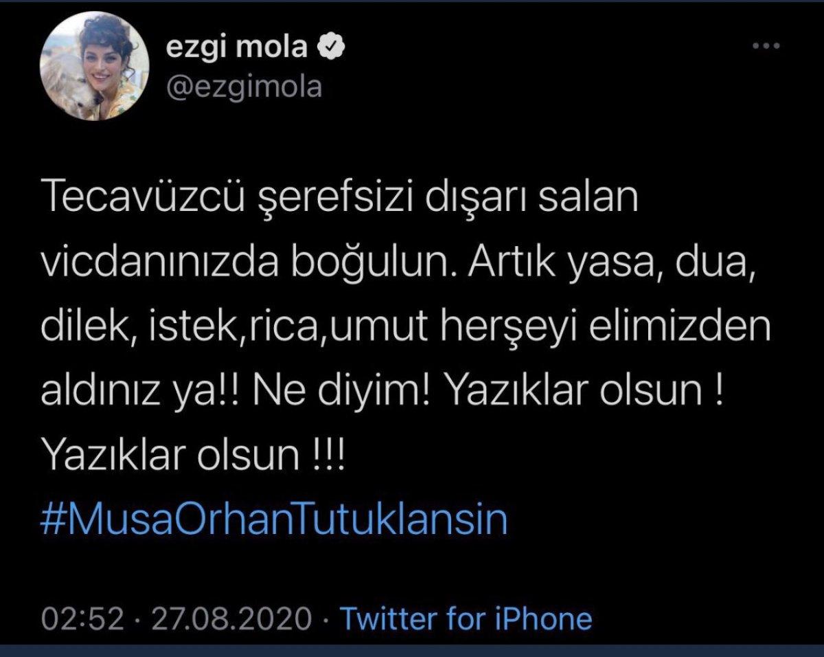 Ezgi Mola ya, Musa Orhan a hakaretten ceza #3
