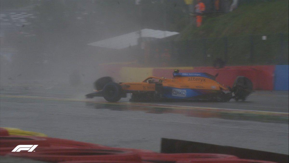F1 pilotu Lando Norris kaza geçirdi #3