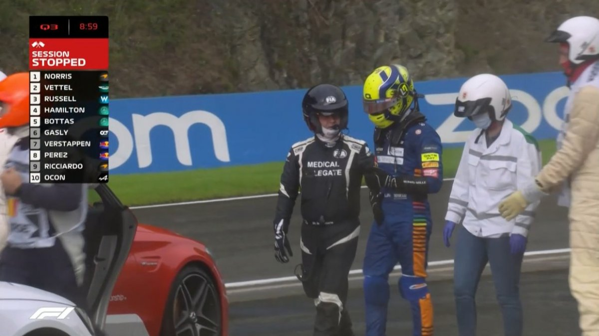 F1 pilotu Lando Norris kaza geçirdi #4