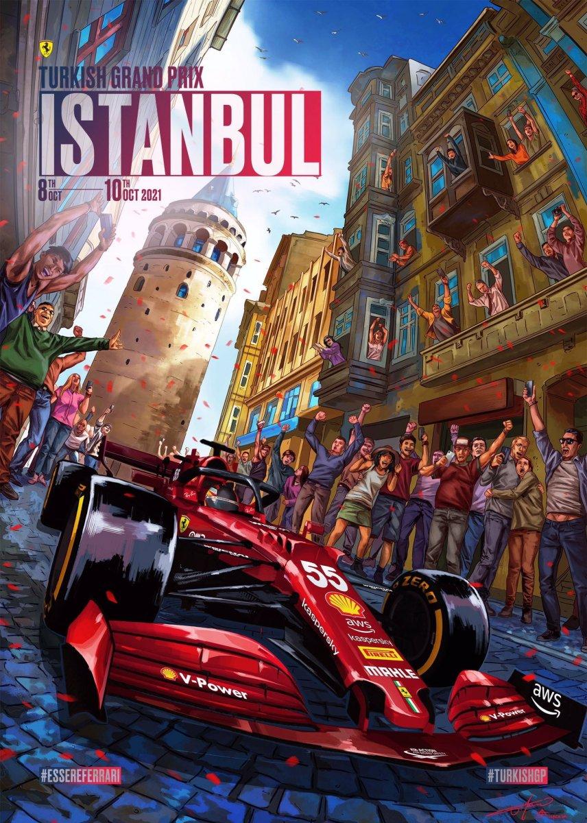 F1 takımlarından Türkiye Grand Prix sine özel posterler #1