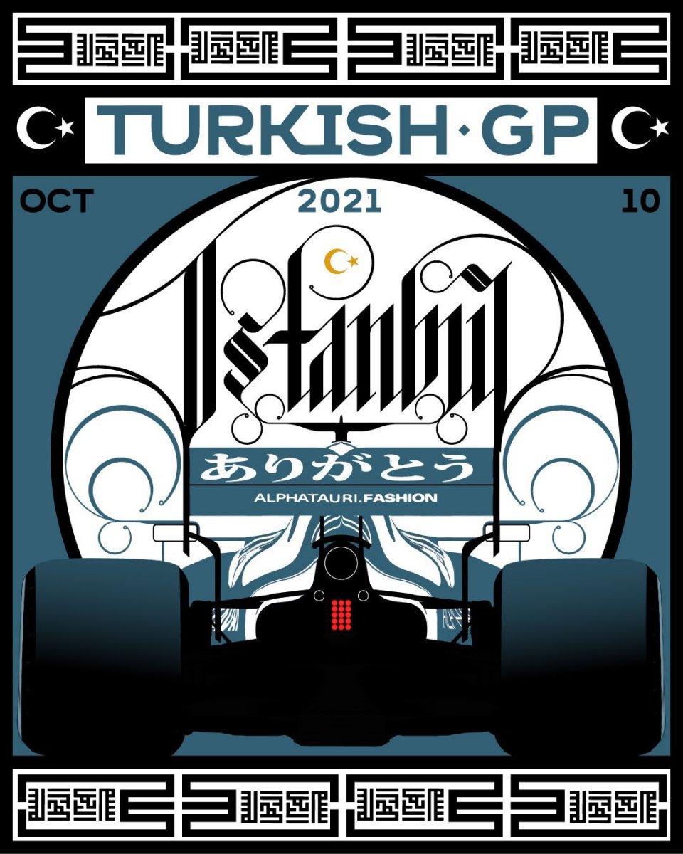 F1 takımlarından Türkiye Grand Prix sine özel posterler #4