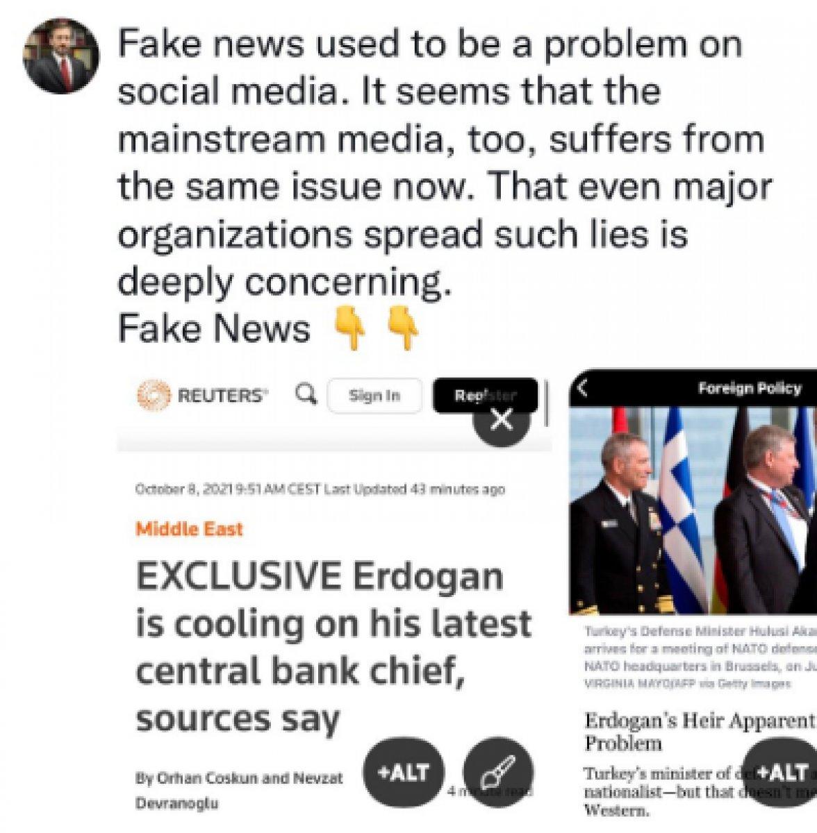 Fahrettin Altun, Reuters ve Foreign Policy yi yalanladı #2