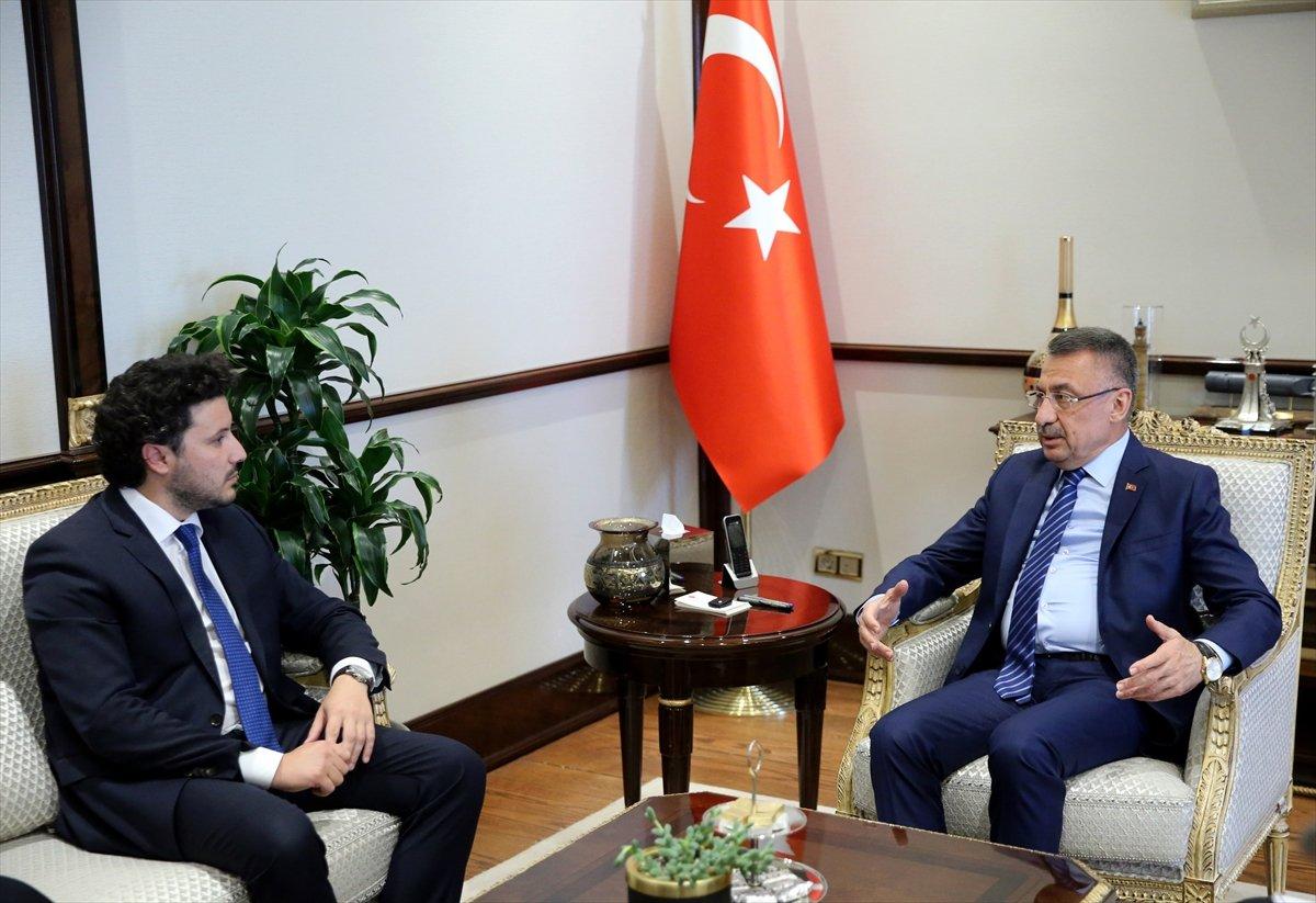Fuat Oktay, Karadağ Başbakan Yardımcısı Abazoviç le görüştü #1
