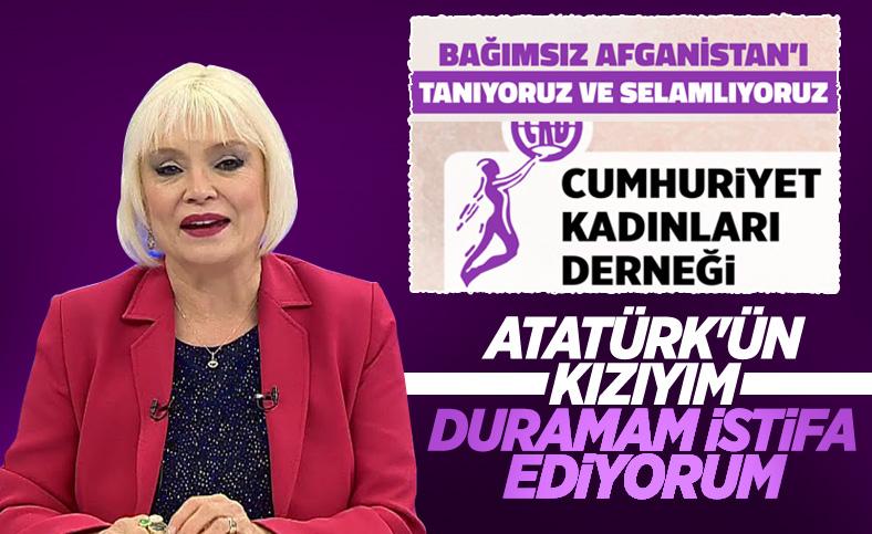 Gülgün Feyman, Cumhuriyet Kadınları Derneği'nden istifa etti