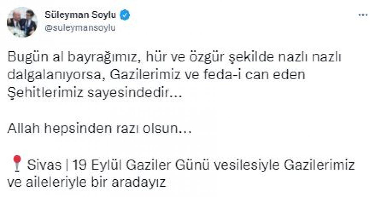İçişleri Bakanı Süleyman Soylu, şehit yakınları ve gazilerle bir araya geldi #5