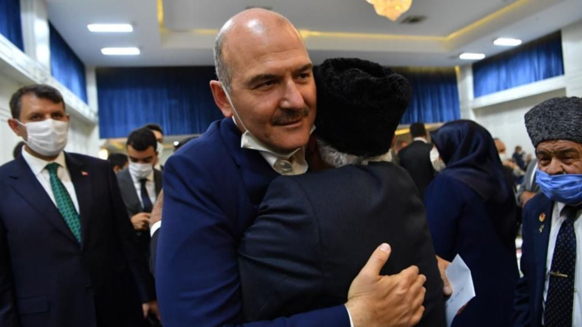 İçişleri Bakanı Süleyman Soylu, şehit yakınları ve gazilerle bir araya geldi