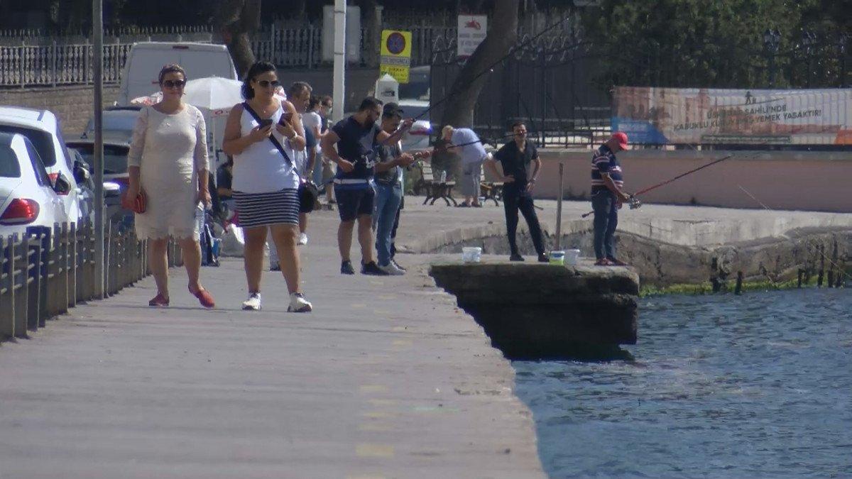 İstanbul da nem bunalttı, sahile akın ettiler #2