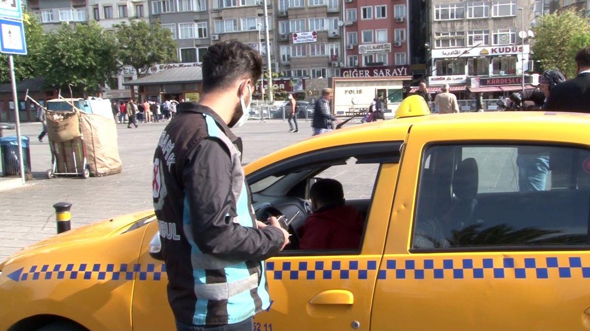 İstanbul da taksi denetimi: 4 araç trafikten men edildi #1