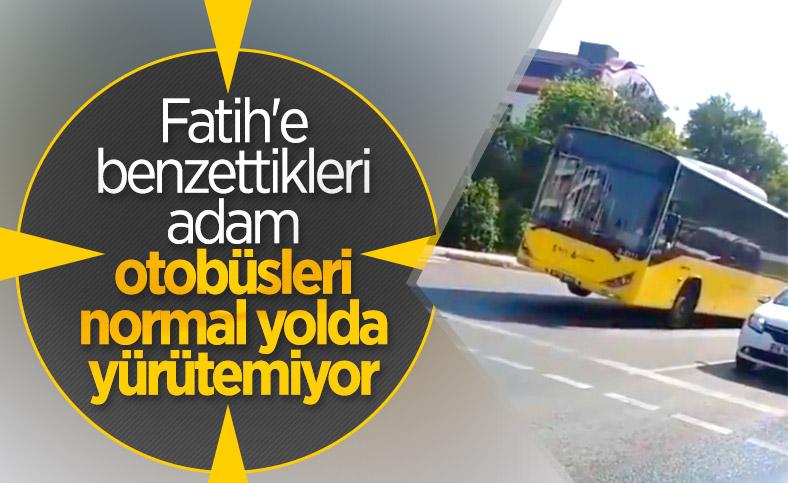 İstanbul'da tekeri patlayan İETT otobüsü yola devam etti