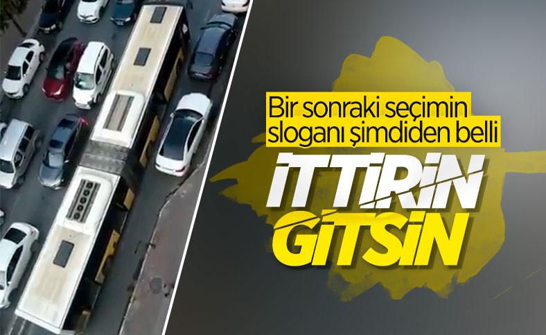 İstanbul Sultangazi'de bozulan İETT trafiği kilitledi