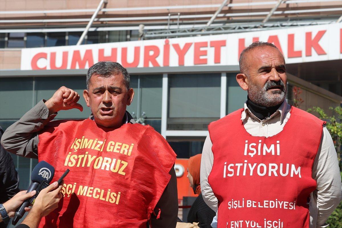 İşten çıkarılan işçiler CHP Genel Merkezi önünde basın açıklaması yaptı #2