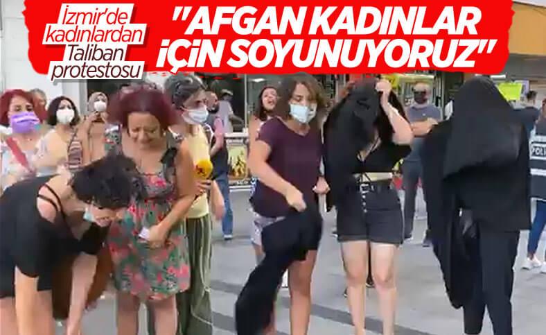İzmir'de Afgan kadınlar için soyunma eylemi