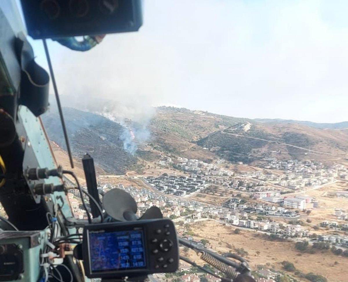 İzmir de makilik alanda yangın çıktı #3