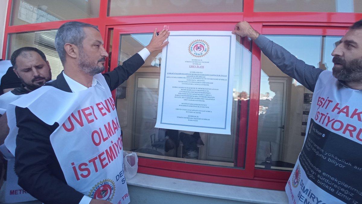 İzmir de metro çalışanları toplu iş sözleşmesi nedeniyle greve başladı #1