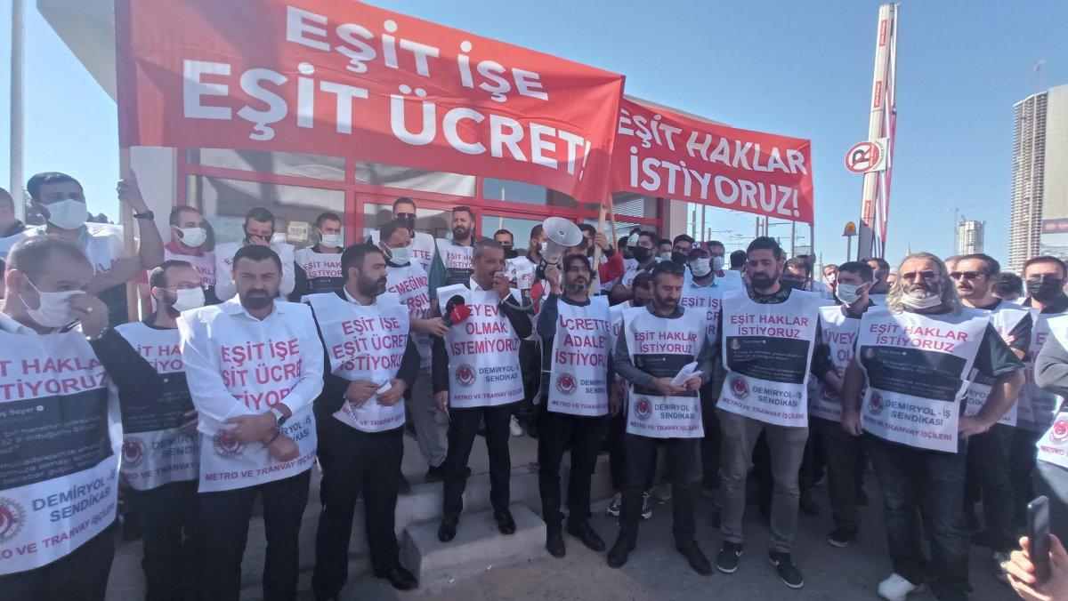 İzmir de metro çalışanları toplu iş sözleşmesi nedeniyle greve başladı #2