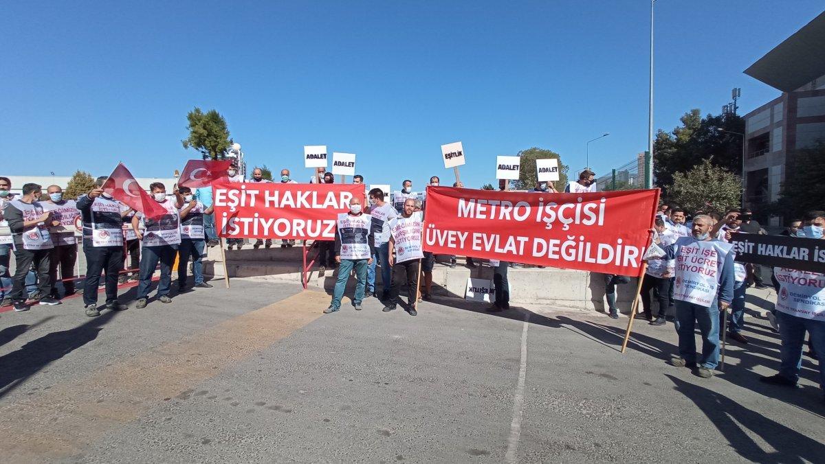 İzmir de metro çalışanları toplu iş sözleşmesi nedeniyle greve başladı #3