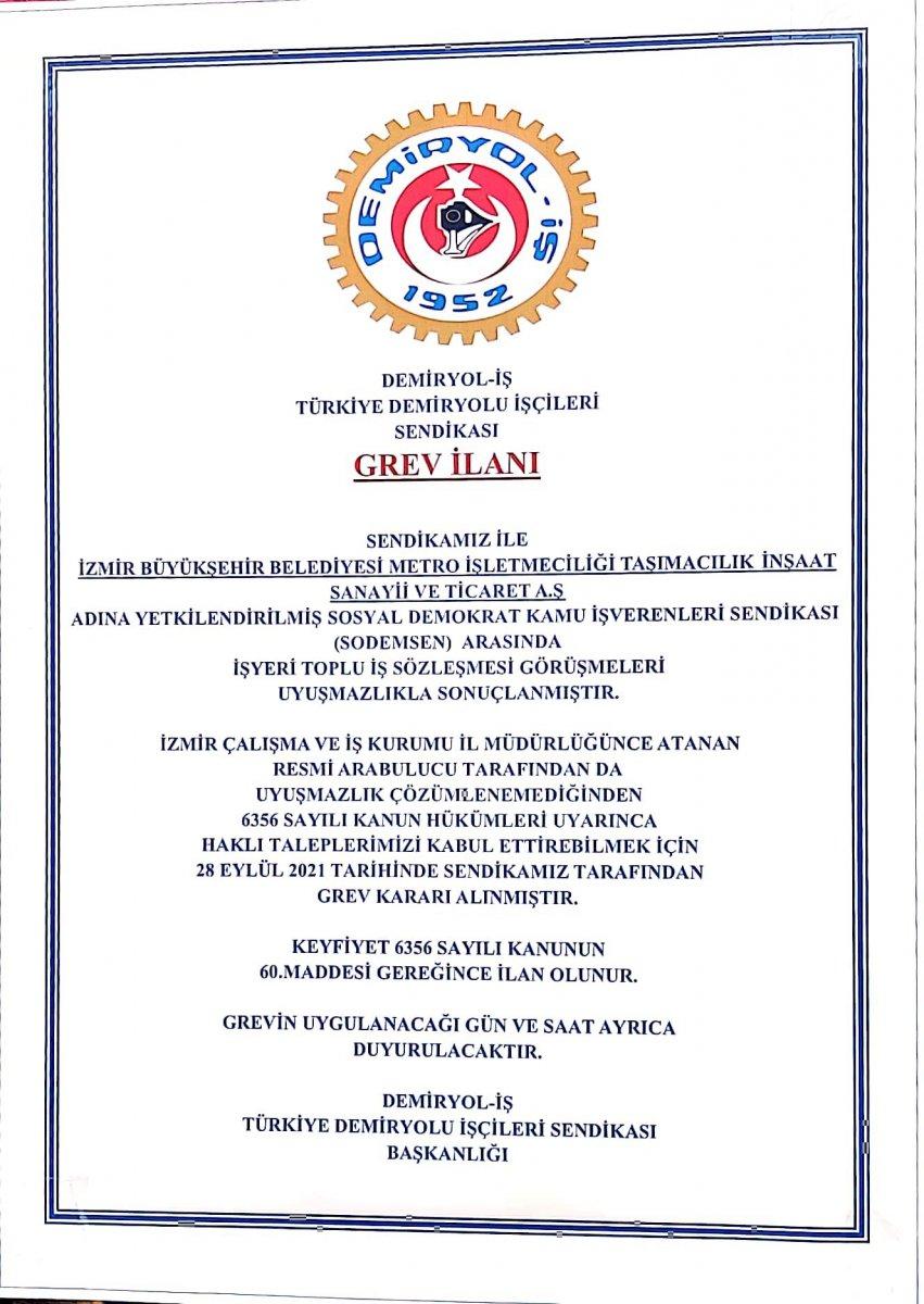İzmir de metro çalışanları toplu iş sözleşmesi nedeniyle greve başladı #4