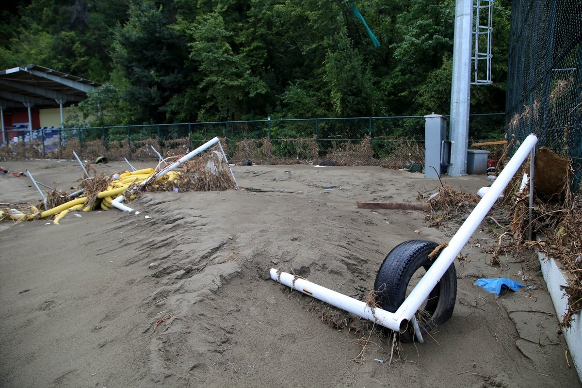 Kastamonu daki sel felaketinde spor tesisleri de zarar gördü #1