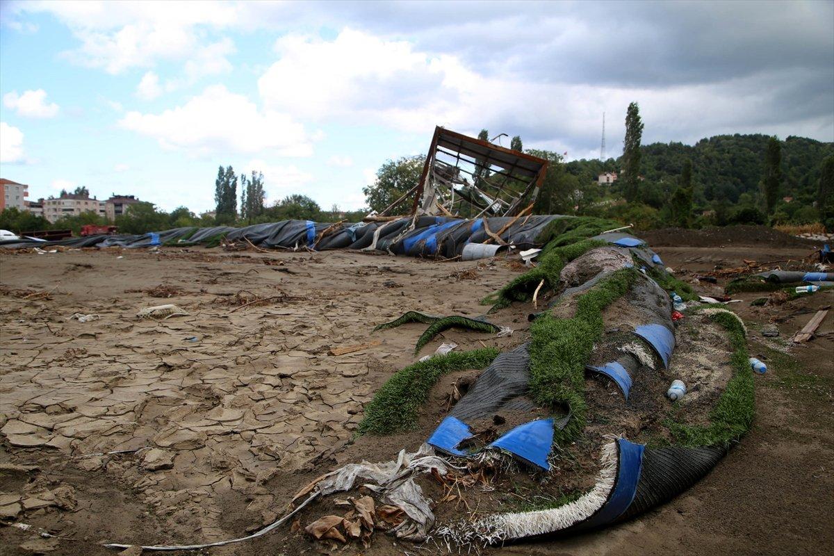 Kastamonu daki sel felaketinde spor tesisleri de zarar gördü #3