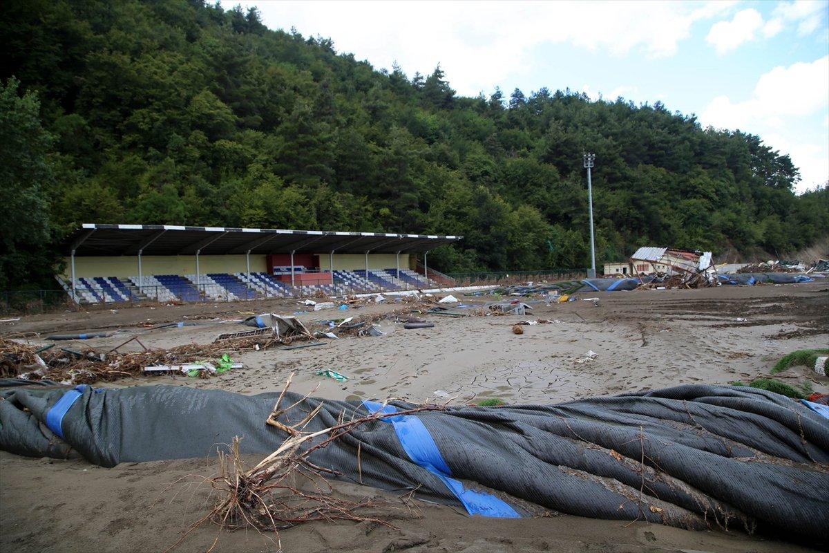 Kastamonu daki sel felaketinde spor tesisleri de zarar gördü #5