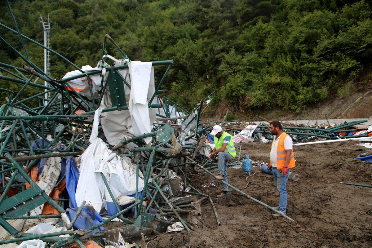 Kastamonu daki sel felaketinde spor tesisleri de zarar gördü #8