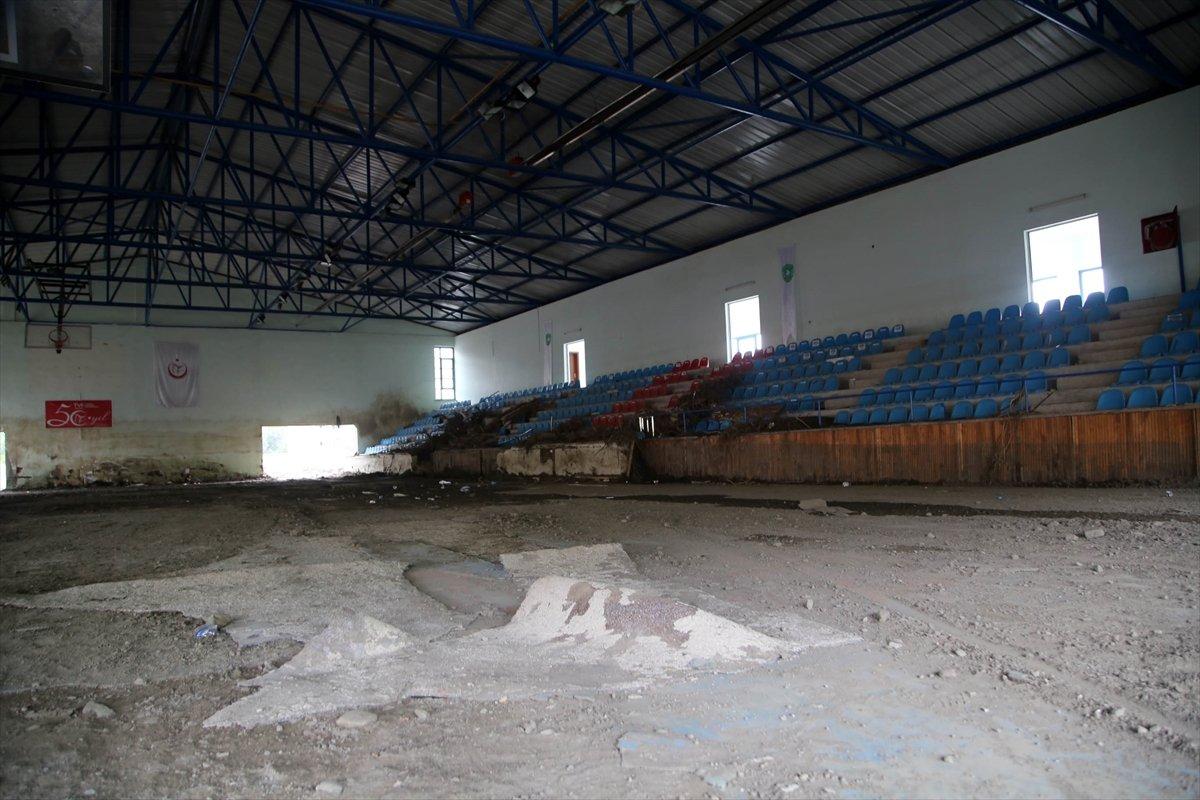 Kastamonu daki sel felaketinde spor tesisleri de zarar gördü #10