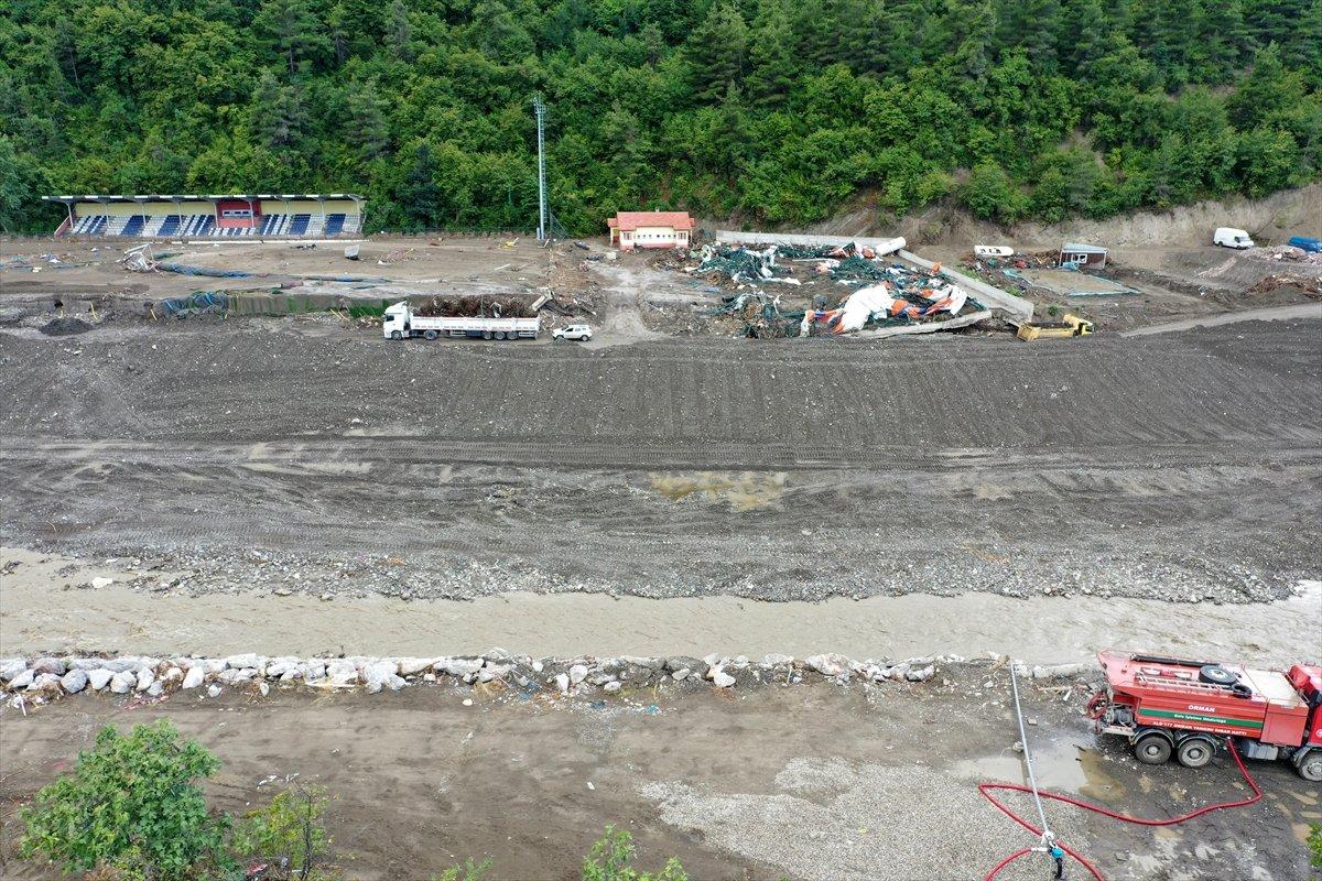 Kastamonu daki sel felaketinde spor tesisleri de zarar gördü #12