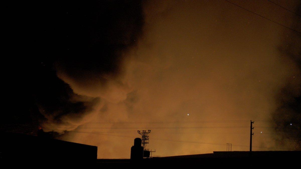 Kayseri deki yangın çıkan bölgeye çok sayıda ekip sevk edildi #1
