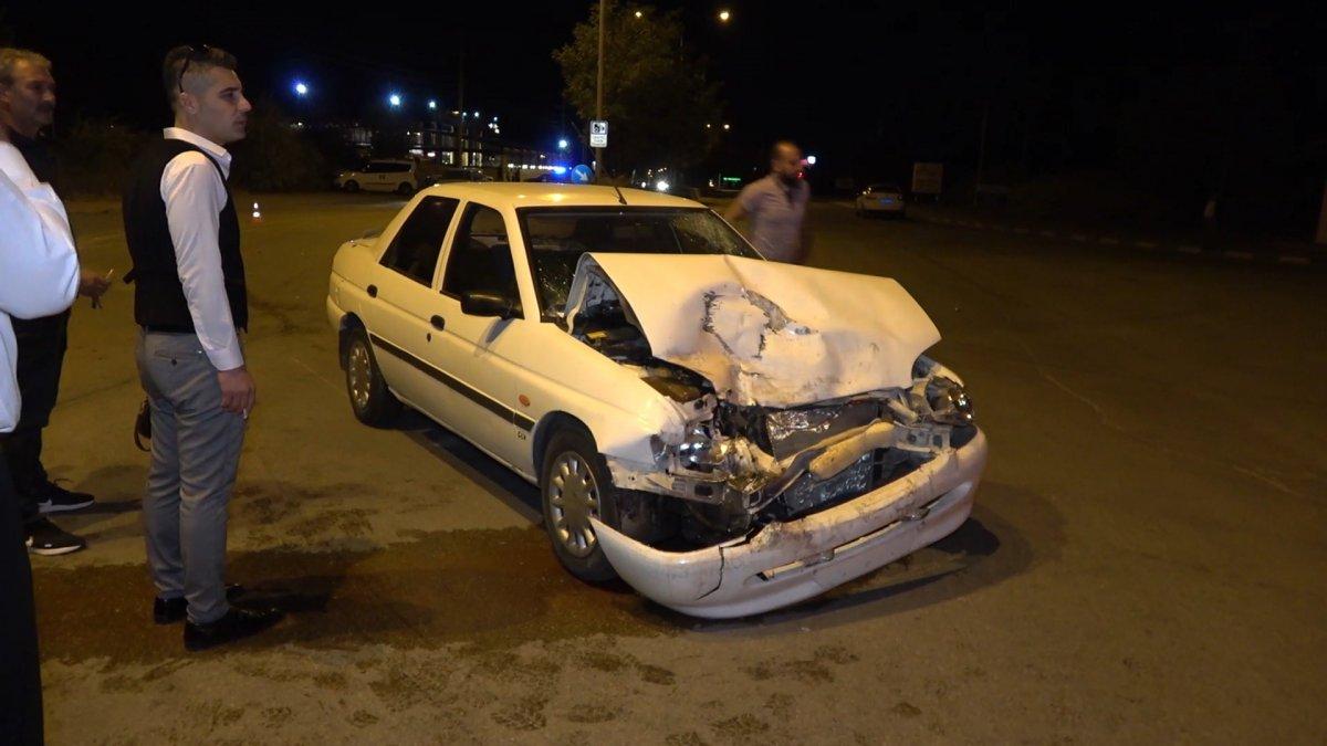 Kırıkkale de, bulvarda dönen araca arkadan vurdu #3