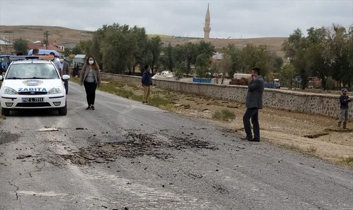 Konya da toprak yüzeyde oluşan yarıkların AFAD raporu yayınlandı #1