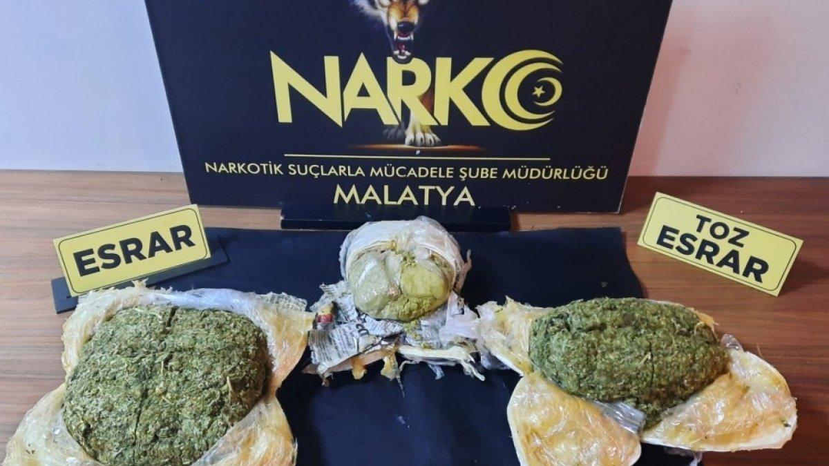 Malatya'da uyuşturucu operasyonu düzenlendi