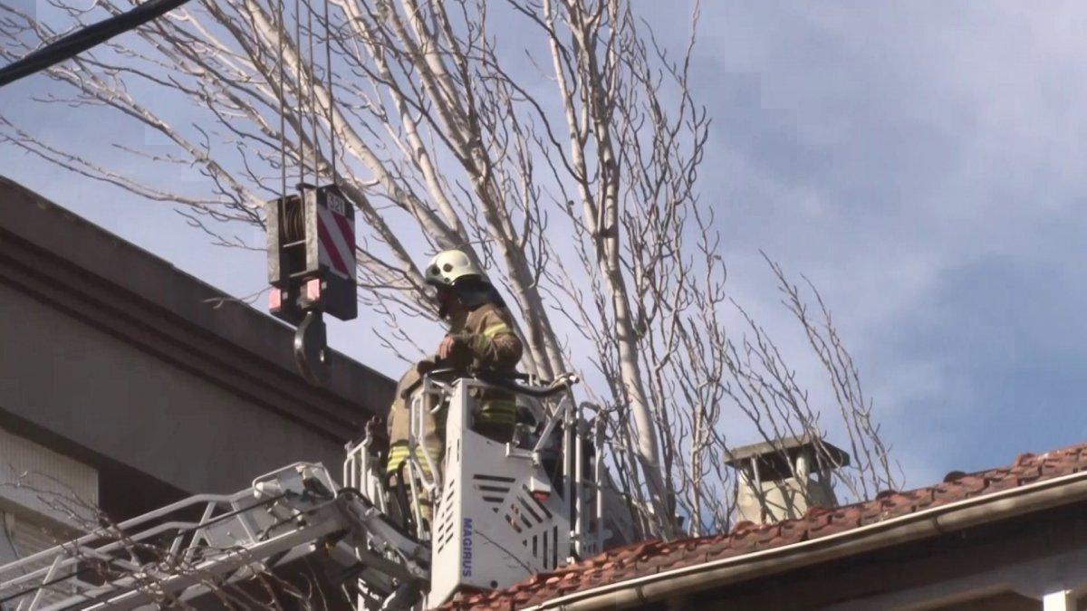 Maltepe'de evin çatısına ağaç düştü #3